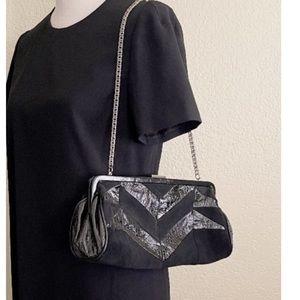 Fortuna by Valentino Vintage Suede Clutch Bag Black